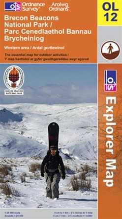 OS Explorer OL12 Brecon Beacons National Park West & Central