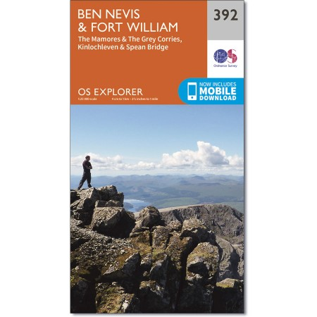 OS Explorer 392, Ben Nevis & Fort William