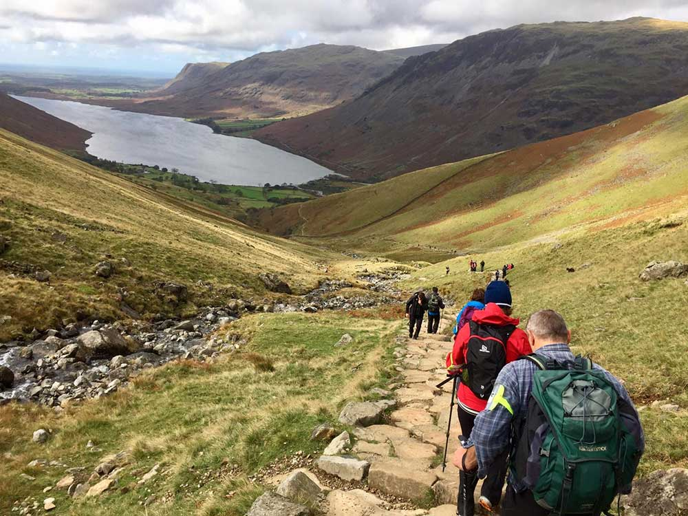Descending Scafell Pike