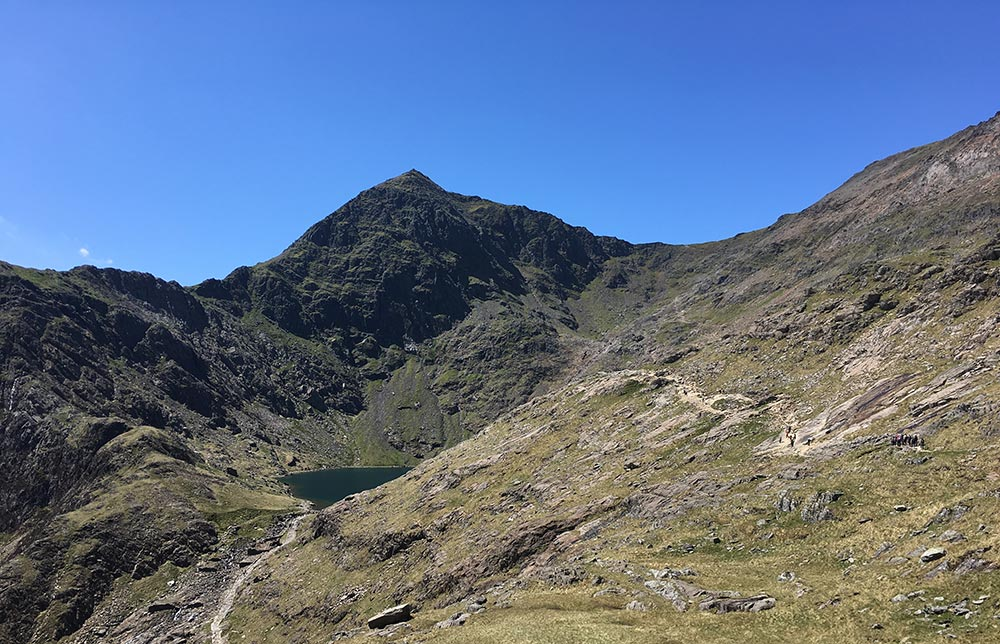 Looking towards the peak of Snowdon, May 2016