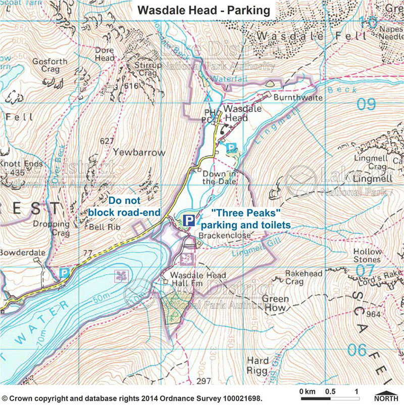 Wasdale Head parking map