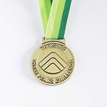 Yorkshire Three Peaks Medals from the Three Peaks Shop