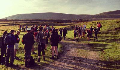 Our groups setting off on the Yorkshire Three Peaks