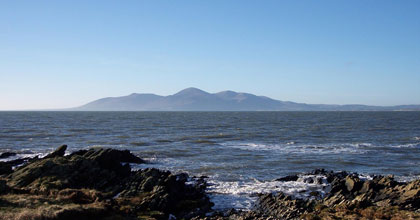 Slieve Donard seen from St John's Point, County Down