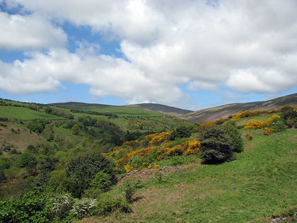 From the base of Snaefell, looking to the peak