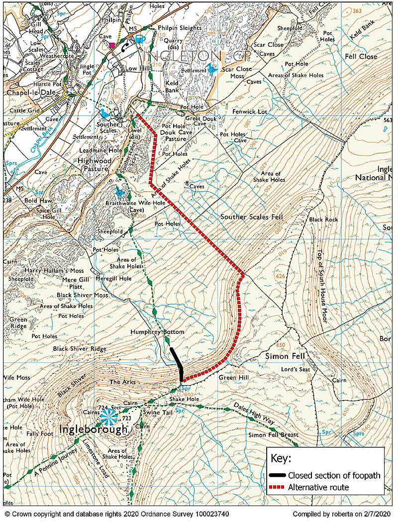 Yorkshire Three Peaks route diversion