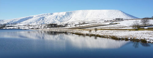 Pendle hill in the winter